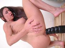 Alissa's pussy loving big brutal dildos