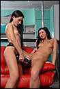 Sasha Rose and Liana fuck with huge strapon dildos