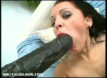 Big tits Lisa having brutal dildo sex